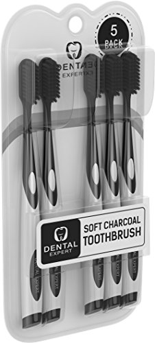 5-Pack-Charcoal-Toothbrush-GENTLE-SOFT-Slim-Teeth-Head-Whitening-Brush-for-Adults-Children-Ultra-Soft-Medium-Tip-Bristles