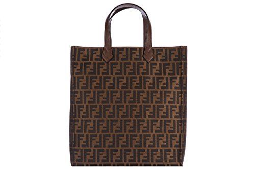 Fendi-FF-Zucca-Print-Tote-Shopper-Handbag-8BH263-Brown