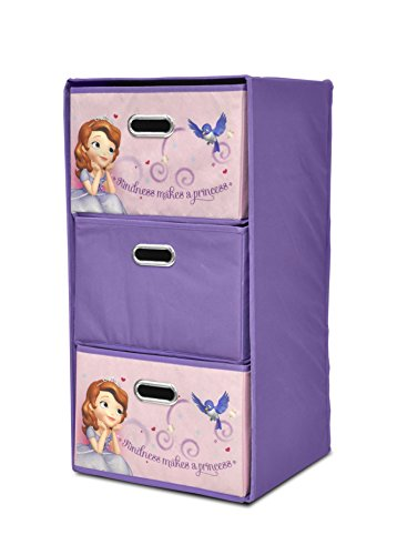 Babys First Wardrobe (Disney Sofia the First Foldable 3-Drawer Storage Organizer)