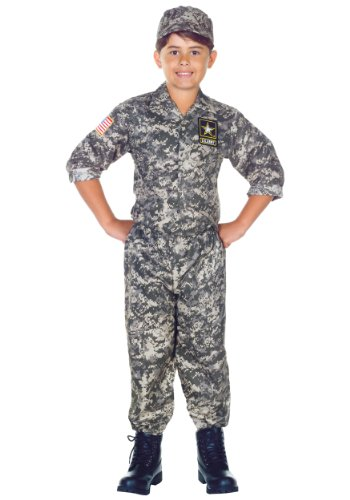 Army Camo Uniform Kids Costume]()