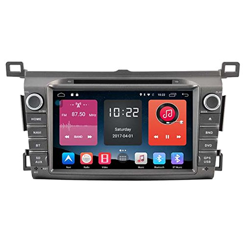 Autosion In Dash Android 6.0 Car DVD Player Sat Nav Radio Head Unit GPS Navigation Stereo for Toyota RAV4 2013 2014 2015 2016 2017 Support Bluetooth SD USB Radio WIFI DVR 1080P by Autosion