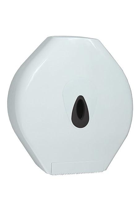 PlastiQline – Dispensador de großroll Maxi – Dispensador de papel higiénico – Plástico – Blanco –