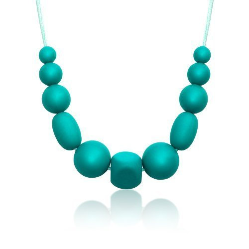 Silicone Bead Necklace Peacock-Teal Siliconies Medley Necklace