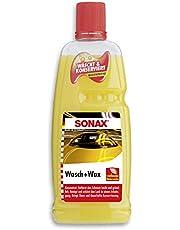 SONAX 03133410 Was- en Wax (1 liter) grondige vuilverwijdering en duurzame beschermfolie van natuurlijke carnaubawas