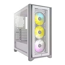 Corsair iCUE 4000X RGB Mid-Tower ATX PC Case - White