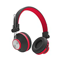 Ant Audio Treble H82 On-Ear Bluetooth Headphones with Mic (Black and Red)