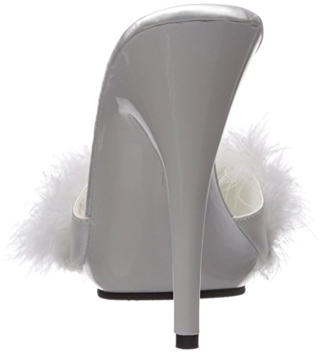 501f Wht Satin FabuliciousPoise marabou Donna wht 501fPoise Fur VGMpLSzqU
