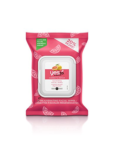 Yes To Grapefruit Correct & Repair Rejuvenating Facial Wipes, 30 Count