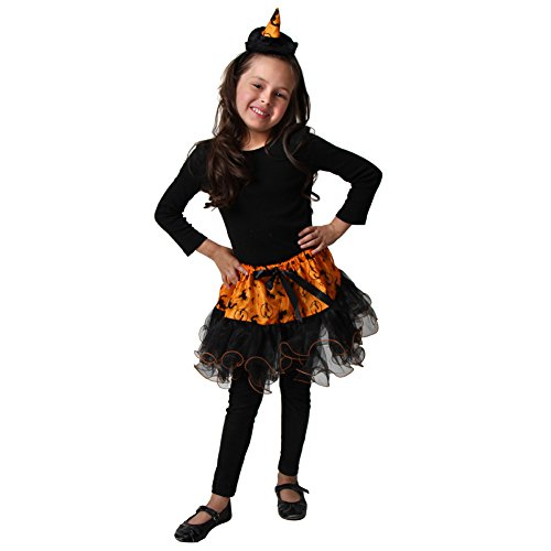 Girls Witchy Witch Costumes (Orange Witch Tutu & Headband Set)
