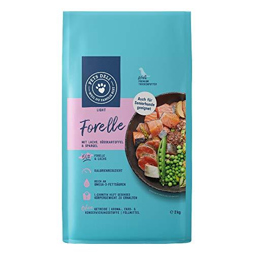Hundefutter trocken 2 kg | Premium-Qualität | Forelle und Lachs mit Süßkartoffel und Spargel | Light Trockenfutter für…