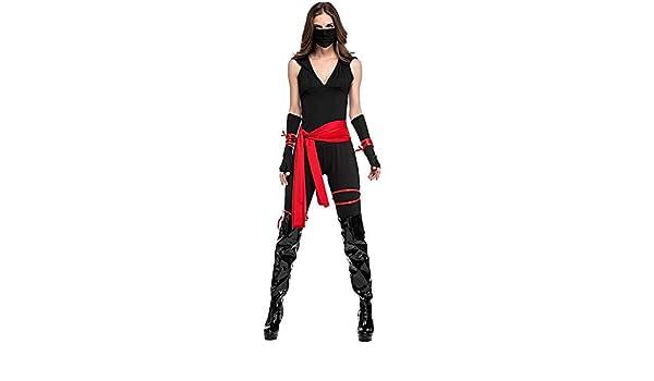 Ninja Costumes Adults Halloween Classic Jumpsuit Women Fancy ...