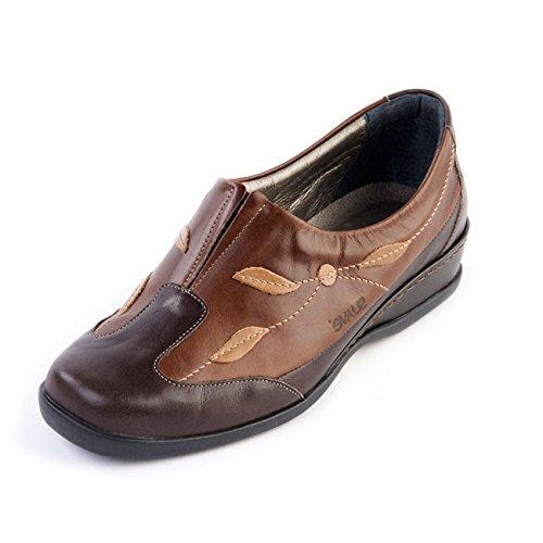 Piel Moca Mujer Zapatos Suave Cordones Para Otra De Z4wn0RA