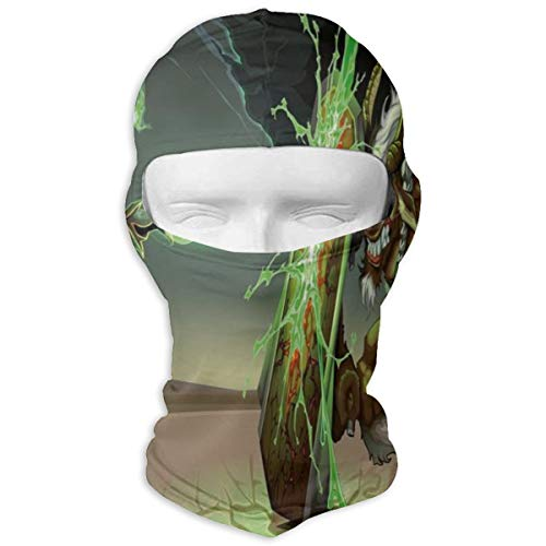 Xuforget Anime Decor Animal Comics Superheros Men & Women's Balaclavas Full Face Mask Hood White ()