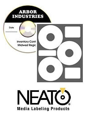 Neato - EconoMatte CD/DVD Labels - 3 Per Sheet - 300 Pack ()