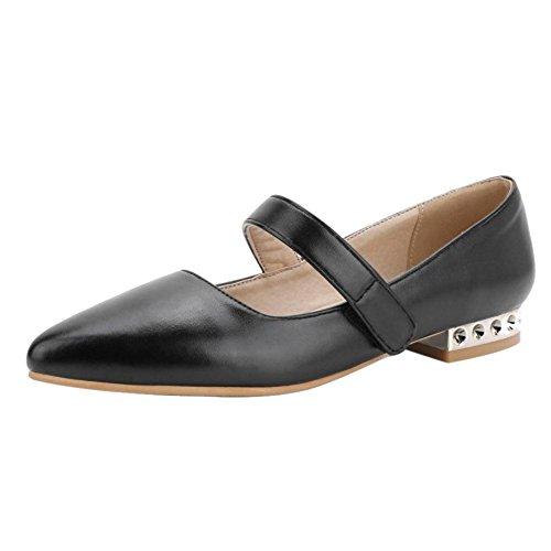 RAZAMAZA de para Mujer Tacon Black Zapatos Bajo ava1FwnTqZ