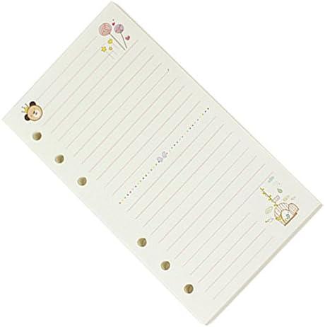 Cikuso A6 Niedliche Bunte Tagebuch Minen Spiralblock Ersetzen Farbe Kern Loses Blatt Briefpapier Geschenk Schule Planer Ringbuch Papier (Linie)