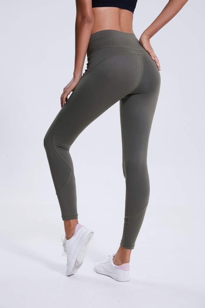 QiuKui Neue Art-Telefonkästen, Neue Frauen Workout Fitness Laufhose-Hohe Taille Schnell Trocknender Bund Sport Leggings Gray