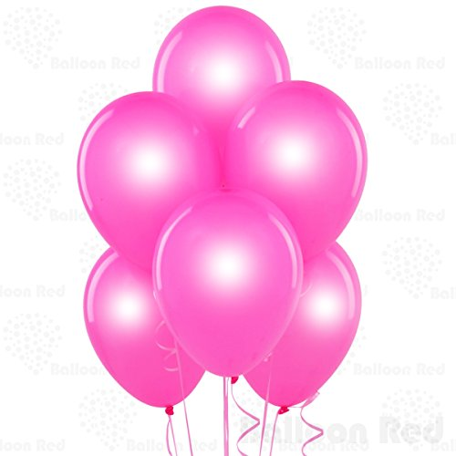 12 Inch Pearlized Latex Balloons (Premium Helium Quality), Pack of 144, Pearl Fuchsia - Homemade Halloween Costumes Balloons