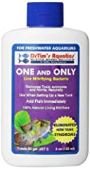 One and Only Live Nitrifying Bacteria removes toxic ammonia and nitrite, instantly working to prevent new tank syndrome by establishing a biological filter in your newly set-up aquarium. Use when setting up a new tank, after a disease treatme...