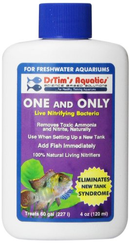 DrTim's Aquatics One & Only Live Nitrifying Bacteria for Cycling Aquaria, FreshWater 4-Ounce