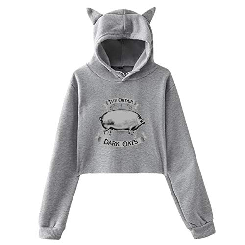 Huanghsf The Order of The Dark Oats Woman's Sexy Sweater Hoodie L Gray
