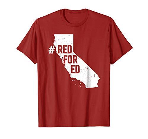 Red For Ed Shirt California State Teacher Strike T Shirt