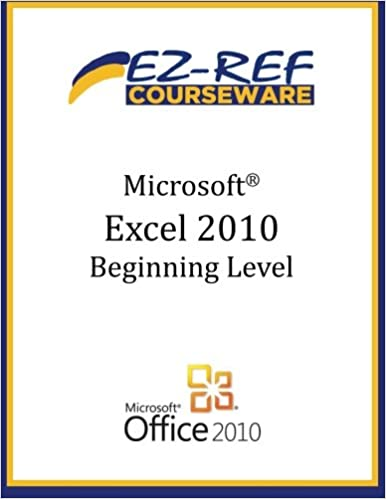 Book Microsoft Excel 2010 - Beginning: (Student Manual)