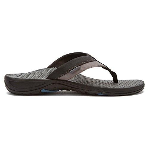 VIONIC Mens Joel Toe Post Sandal Black/Charcoal