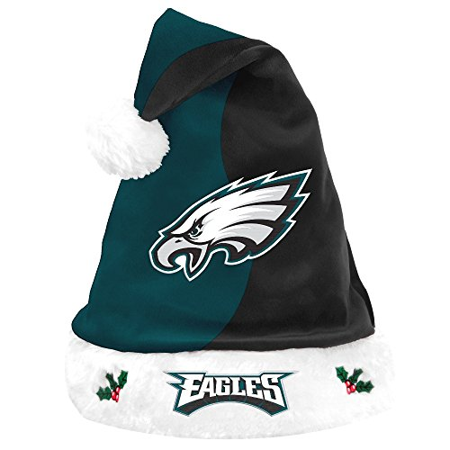 Philadelphia Eagles Santa - Philadelphia Eagles 2017 NFL Basic Logo Plush Christmas Santa Hat