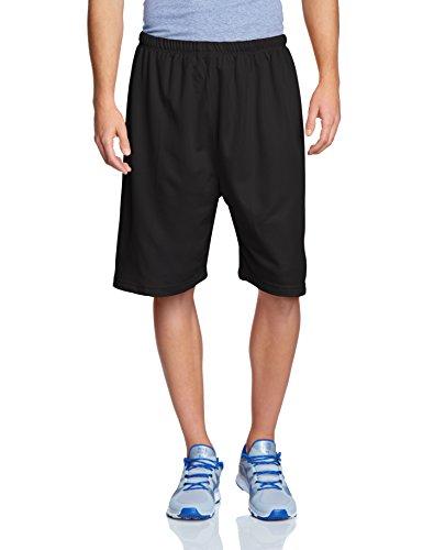 Urban Classics Herren Sport Shorts Bball Mesh Shorts schwarz (Black) Medium