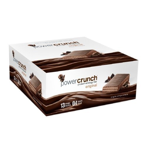 Power Crunch Original Energy Bar 12 Ct (Triple Chocolate by Bio Nutritional