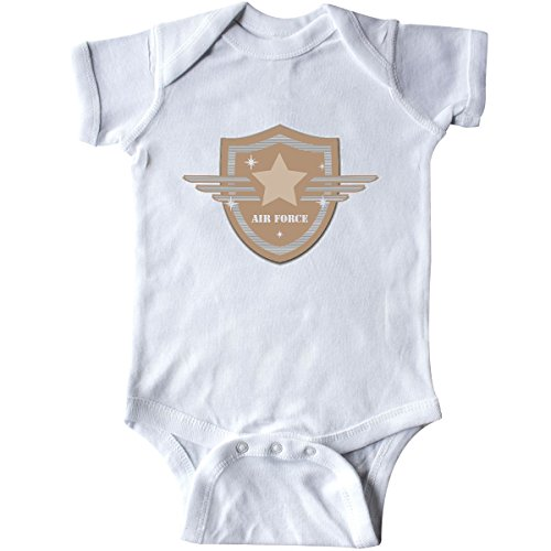- inktastic - Air Force Crest Infant Creeper 6 Months White