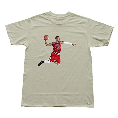 Goldfish Men's Geek Blank Derrick Rose T-Shirt Natural US Size L -