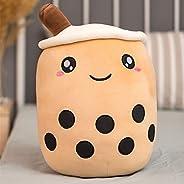 Zzlush Plush Doll Figurine Toy Pet Pillow Animal, 25/35cm Cute Cartoon Fruit Bubble Tea Cup Shaped Pillow with