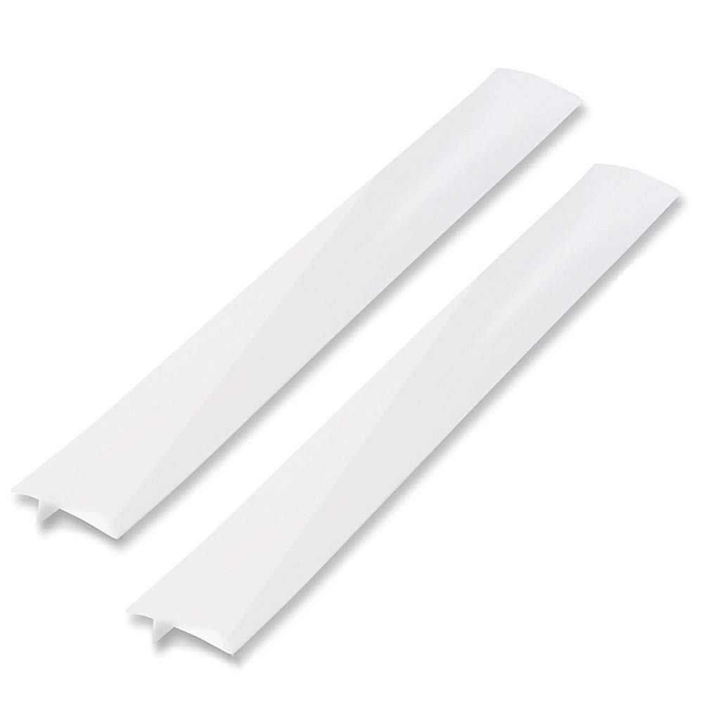 "Silicone Gap Cover, (2 PACK) Silicone Gap Stopper Kitchen Stove Counter Gap Covers - 21"" Flexible Stove Space Fillers, Food Grade, Non-toxic, White"