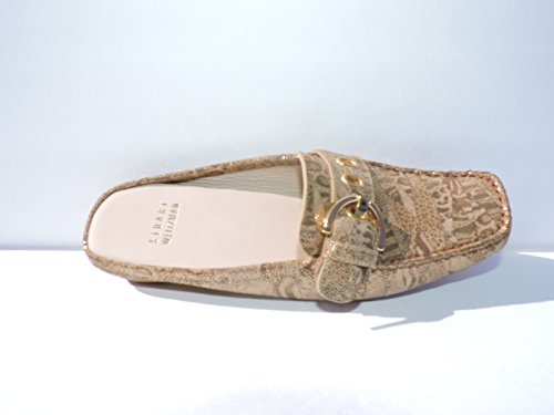 Stuart Weitzman Womens Beltmule Daim Tan Nairobi Patch Chaussures Diapositives Taille 7 M