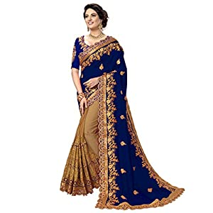 Panash Trends Women's Silk Embroidery Work Saree Unstiched Blouse