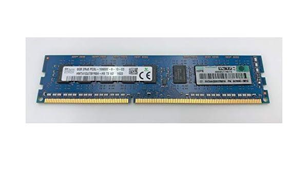 DDR3-1333 647909-B21 647658-081 HPE 8GB  DUAL RANK X8 PC3L-10600 UNBUFFERED CAS