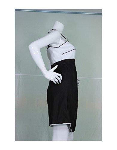 Aller Simplement - Túnica sin mangas de algodón rodilla ve TU311C blanco y negro Multicolor