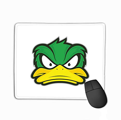 Mouse Pad Angry Duck Mascot Clipart Picture Cartoon Logo Character Variegated Rectangle Rubber Mousepad 11.81 X 9.84 Inch
