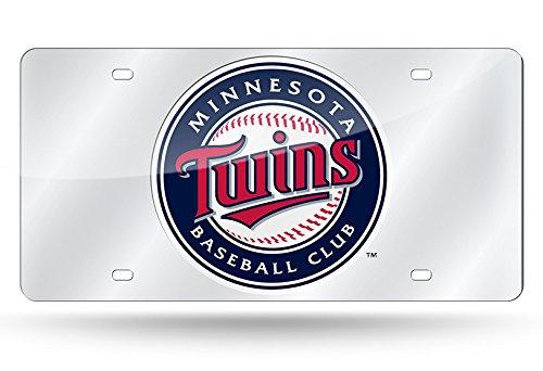 Minnesota Twins Laser - Minnesota Twins Laser Cut Silver License Plate