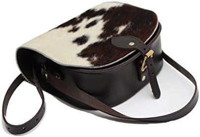 A to Z Leather Peau de vache Imprimer Peau de vache Cuir vŽritable Saddle Cross Sac ˆ main Body avec fermeture ˆ boucle et sangle rŽglable