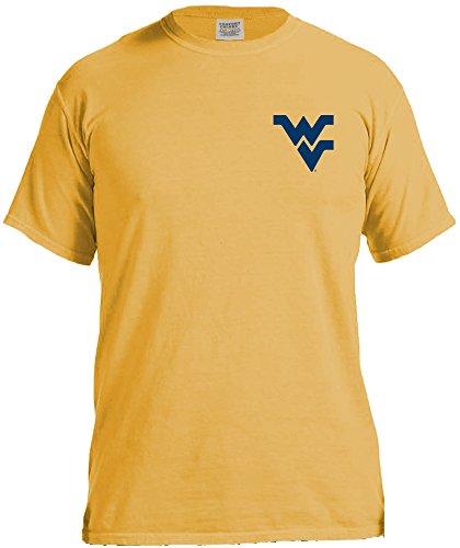 NCAA West Virginia Mountaineers Mountain Scene Comfort Short Sleeve T-Shirt, Large, (Wvu Basketball)