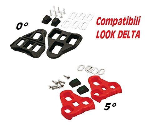 Angolo Keo 9° Compatibles tranches Réglable Tacchette Rosso Angle Look Avec Pédales vfzvng4