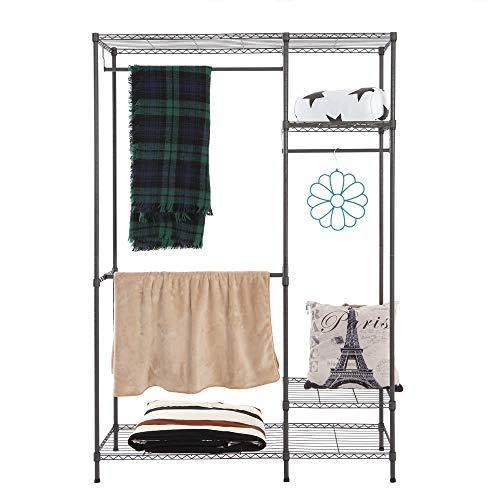 AppleLand Dropshipping Multi-Functional Garment Rack Closet Organizer Clothes Hanger Wardrobe Home Shelf Without Cover 47.25'' 17.72'' 70.87'' US - Quarkscm by AppleLand (Image #2)