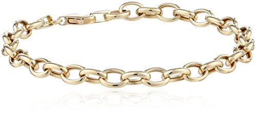 14k Yellow Gold Link Bracelet, 7.5'' by Amazon Collection