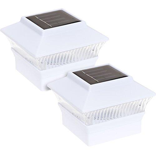 Reusable Revolution Solar Powered 4 x 4 LED Post Cap Light (White, 2 Pack)