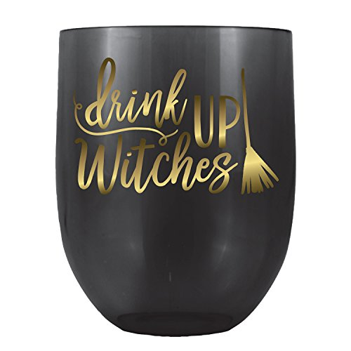 Drink Up Witches Stemless Wine Glass