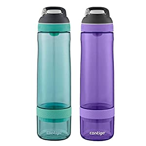 Contigo 2-Pack Autoseal Infuser Bottles, Grayed Jade/Grape