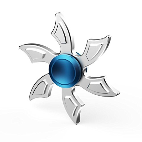 Aritone Fashion Gift For Fidget Camouflage EDC toy Fidget Hand Spinner Toy Stress Reducer EDC Focus Toy (Silver) Aritone